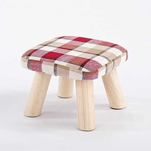 6ee3283baf3b1 QFFL Repose-pieds en bois massif   tabouret de canapé   haut jambes Petit  banc