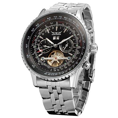 Forsining Tourbillon. Reloj automático de pulsera para hombre con calendario completo. JAG034M4S2