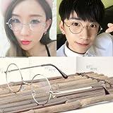 la rotonda di metallo piatto coreano occhiali cornice retrò femmina spettacolo cornice cornice mens occhiali occhiali,silver frame (specchio caso stoffa.