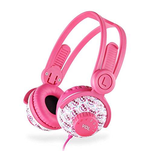 EasySMX [Kopfhörer für Mädchen], verdrahtete Kinderkopfhörer, sichere Lautstärkebegrenzung, 3,5 mm Audio Jack, Share Port für Kinder, MEHRWEG