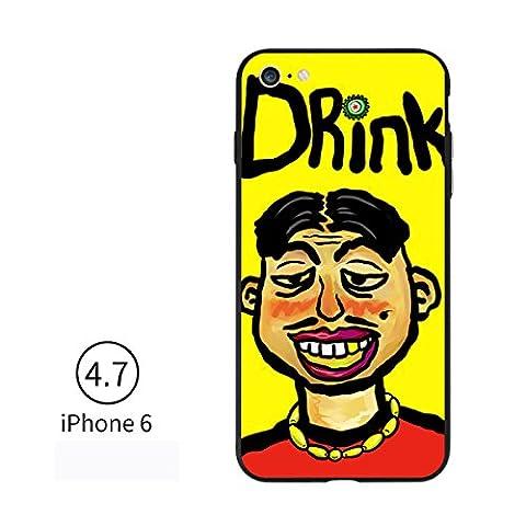 IPhone 7 Plus Fall IPhone 6 Fall Europa-Art Vereinigte Staaten Art Personalphone Iphone7 Fall Kreativer Silikon-Schutz-Handy-Fall,DrinkUncle-iPhone6(6S)