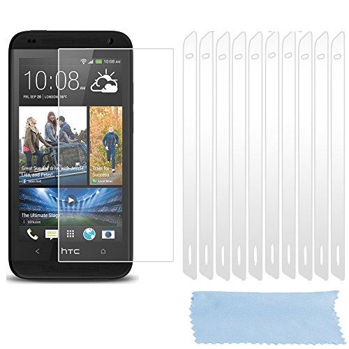Preisvergleich Produktbild Cadorabo – 10x Displayschutzfolie Schutzfolie für > HTC DESIRE 610 < High Clear Hochtransparent – TRANSPARENT