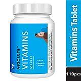 Drools Absolute Vitamin Tablet- Dog Supplement, 110 Pcs