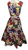 Boolavard Women's Vintage 1950s Halter Neck Audrey Hepburn Dress 50s Retro Swing Dresses with Belt
