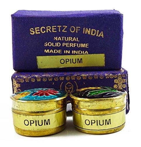Natural Natürliche opium duft fester duftstoff körper musk natur in mini messing jar