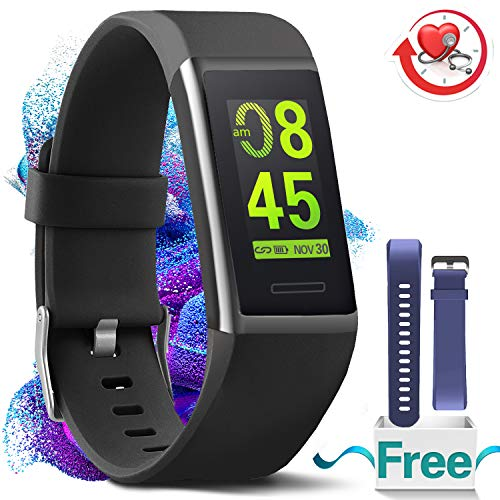 MorePro Fitness Armband HR, Wasserdicht Fitness-Tracker Herzfrequenz-Blutdruckmessgerät Aktivitätstracker
