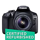 (Certified REFURBISHED) Canon EOS 1300D 18MP Digital SLR Camera (Black) with 18-55 and 55-250mm is II Lens, 16GB Card and Carry Case