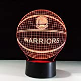 3D Effekt Basketball Golden State Lampe 7 Farben Ändern Nachtlicht Illusion Acryl Touch Lampe Schlaf Lampe Party Decor Geschenke