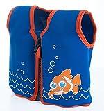 The Original Konfidence Jacket I Neopren-Jacke für Kinder I Schwimmjacke ideal für Kinder I mehr Bewegungsfreiheit wie bei Schwimmflügel, Größe:18Mon-3Jahre, Design:scoot the clownfish