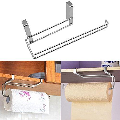 hysagtek Küchenrollenhalter Papier Handtuchhalter unter Regalboden WC-Papier Spender Storage Rack Holder