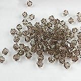 Perles à facettes en verre cristal Gemini_Mall® 4mm pour fabrication de bijoux – Lot de 100 pièces, marron...