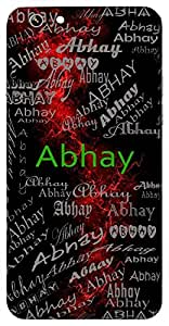 Abhay (Fearless,A Son Of Dharma) Name & Sign Printed All over customize & Personalized!! Protective back cover for your Smart Phone : Samsung Galaxy on5-Pro