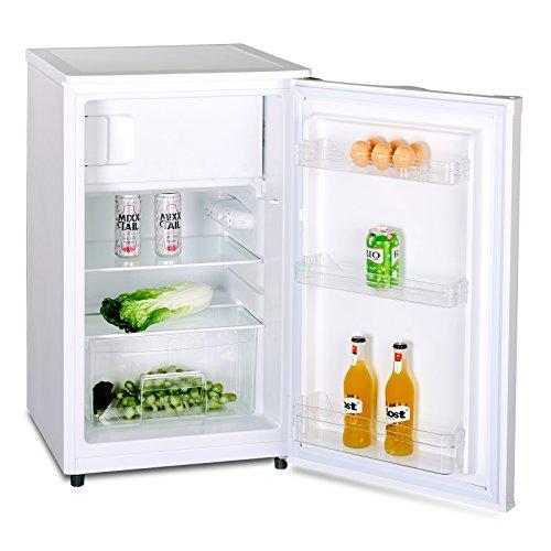 Kühlschrank mit Gefrierfach A++ (90 Liter) Gefrierschrank ✓ Abtauautomatik ✓ höhenverstellbare Glasablagen ✓ Gemüsefach ✓ Türablagen ✓ Innenbeleuchtung ✓
