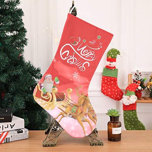 Leedy calza di natale babbo natale pupazzo di neve candy sacchetto regalo, natale decorazioni albero di natale, palline ciondolo ornamento decorazioni accessori, c, multi-colored