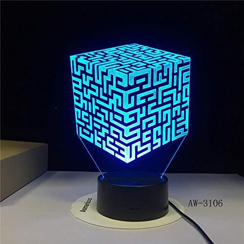 Motocross Fahrrad Form Nachtlicht 3D Schreibtischlampe LED USB 7 Farbwechsel Sensor Schreibtischlampe als Urlaub Geburtstagsgeschenk