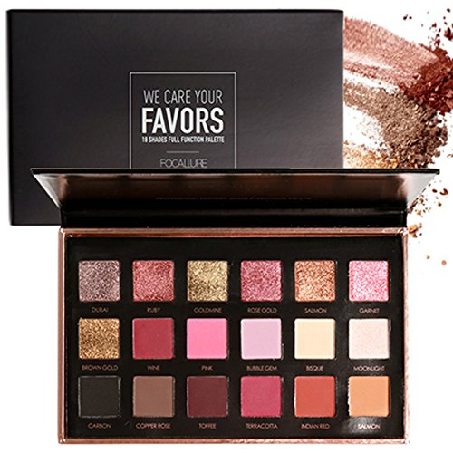 ROMANTIC BEAR 18 Farben Schimmer Matt Mineral Pigment Lidschatten Palette Nude Beauty Make up
