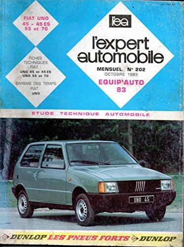 REVUE TECHNIQUE L'EXPERT AUTOMOBILE N° 202 FIAT UNO 45 / 45 ES / 55 / 70