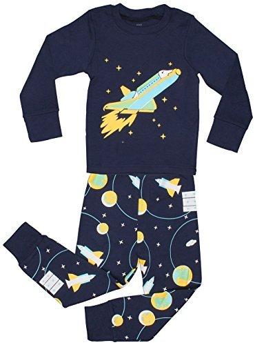 Elowel rocket spazio set pigiama manica lunga 2 pezzi da ragazzi 6 anni