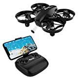 Potensic Mini Drohne mit Kamera RC Quadrocopter Drohne 2.4Ghz FPV Live Übertragung Ferngesteuerte Drohne Spielzeug Drohne für Einsteiger Höhe Halten Schwerkraft Induktion Modus - A20W Schwarz