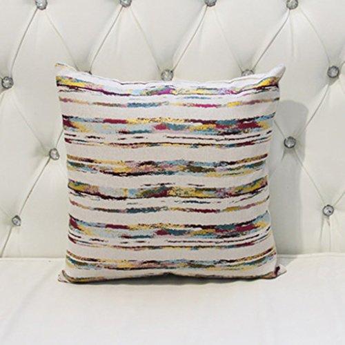 HAIYING Kissen Modernes Einfaches Weiches Quadratisches Sofa Des Baumwollflachs Weich / Autoinnenraum- / Bürostuhlkissen Umfaßt Kissen Core45 * 45CM ( Farbe : B )