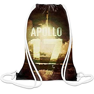 Apolo 17 Custom Printed Drawstring Sack - 5 l - 100% Soft Polyester - A Stylish Bag For Everyday Activities - Custom Bags