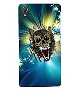 Fuson Evil Bat Sparkle Pattern Back Case Cover for SONY XPERIA Z2 - D3784