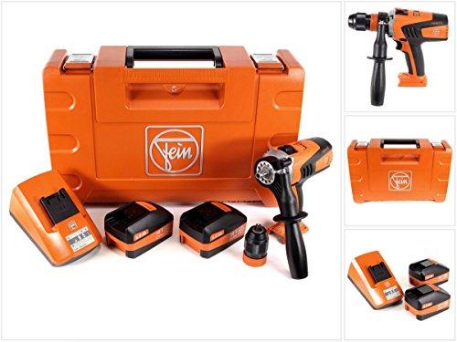 fein ascm 18 Fein 71161161000 Bohrschrauber ASCM 18 QM | 4-Gang Akku-Bohrmaschine mit bürstenlosem Motor | 2X Li-Ionen Akkus 18V 5Ah, 90 W, 18 V, Orange