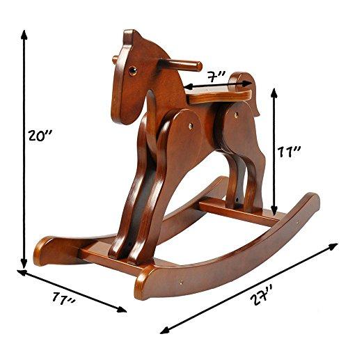 Cavallo A Dondolo In Legno.Labebe Cavallo Dondolo Legno Sedia Dondolo Bambini Di Cavaliere