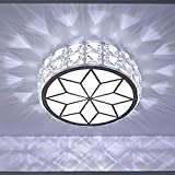 Illuminazione LED Moderno Creativo Rotondo Piccola Lampada Da Soffitto Di Cristallo, Bianco Acrilico Plafoniera Paralume, Sottotetto Sala Lampada Da Giardino Scale, 17 Centimetri-9W / 21cm-12W Incorpo