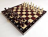 ACADÉMICO 27cm / 11in Pequeño Traveling Juego de ajedrez de madera, hecho a mano clásico juego