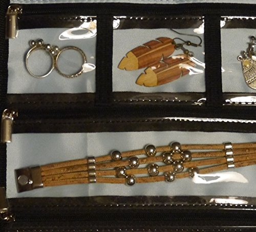 Joyera-de-viaje-rollo-bolsa-con-un-gancho-KiXool-Organizador-de-la-joyera-para-pendiente-collar-reloj-pulsera-anillo