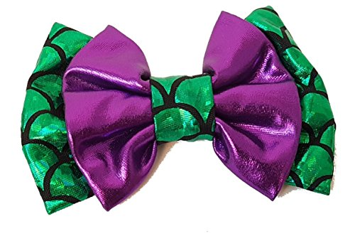 Aribella Collection Girls Little Mermaid Hair Clip Bow 4