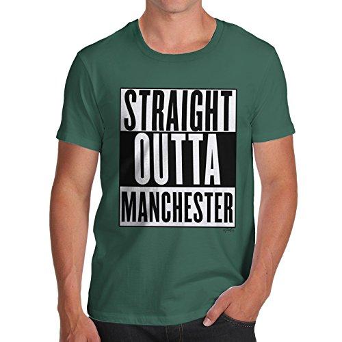 Herren Straight Outta Manchester T-Shirt Flaschengrün