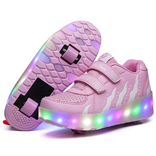 Led Luces Zapatos con Ruedas para Pequeños Niño y Niña Automática Calzado...