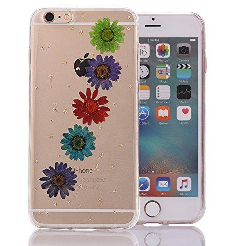 """iPhone 6sPlus Schutzhülle, iPhone 6Plus Soft TPU Handytasche, CLTPY Modisch Durchsichtige Rückschale im Getrocknete Blumenart, [Stoßdämpfung] & [Kratzfeste] Full Body Case für 5.5"""" Apple iPhone 6Plus/ Floral 19"""
