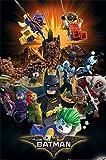 Lego Batman - Boom - Kino Film Poster Plakat Druck - Größe 61x91,5 cm + 2 St. Posterleisten Kunststoff 62 cm schwarz