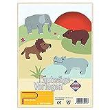 matches21 Wildtiere Tiere Holz Laubsägevorlagen DIN A4 Holzvorlagen für Kinder zum Aussägen / Laubsäge Vorlagen