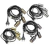 Kingso e27 e26 Schlüsselanhänger, Vintage-Stil, Dimmer, Wechselstromschalter, 110-220 V