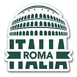 2 x 10cm/100 mm Roma Italie Autocollant de fenêtre en verre Voiture Van Locations #6405