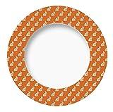 Excelsa Enjoy Teller Hase, Porzellan, Orange, 27x 27x 1.5cm