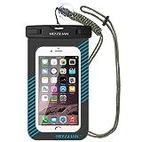 Funda Impermeable Móvil Mosslian Bolsa Universal para iPhone 7/6/6s plus/5/5s Certificado IPX8 Resistente al Polvo, Lluvia, Nieve y Aceite, Ideal para Esquiar, Nadar, Pescar, Lavar y Cocinar(Azul)