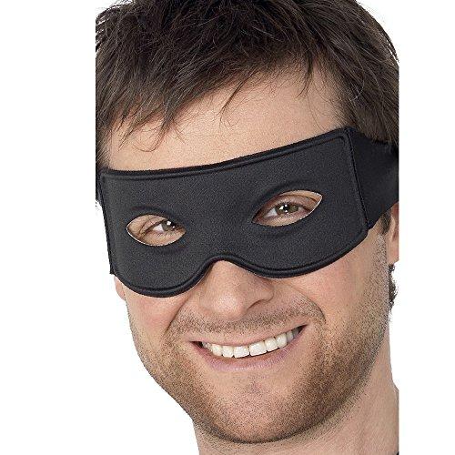 Smiffy's 99717 Banditen-Augenmaske und Halstuch zum Festbinden, Einheitsgröße