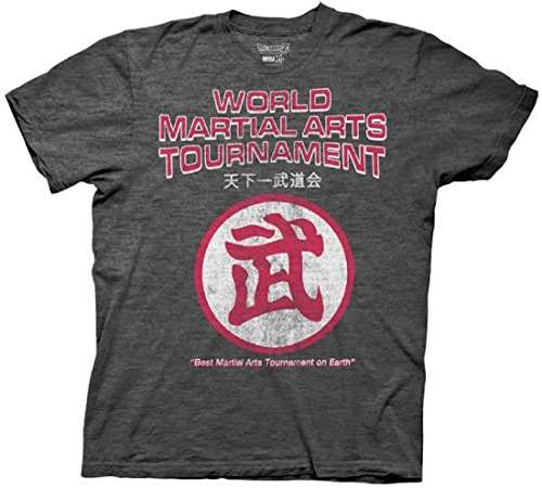 Dragon Ball Z mundo torneo de artes marciales Logo Adulto Camiseta - Gris -