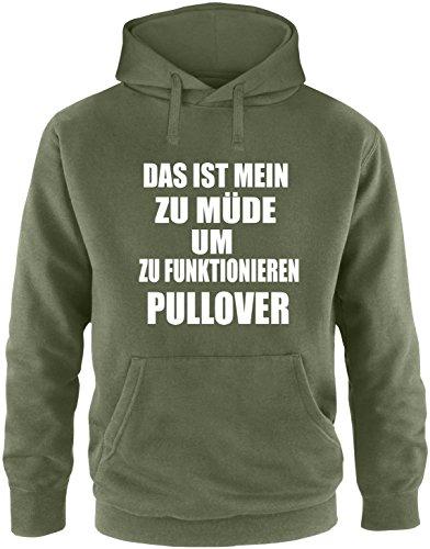 EZYshirt Das ist mein zu Müde um zu Funktionieren Pullover Herren Hoodie Oliv/Weiss