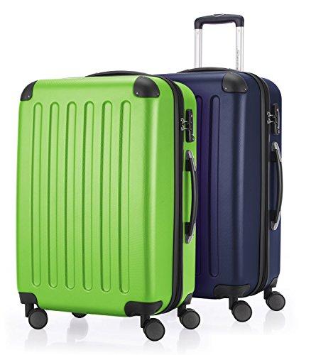HAUPTSTADTKOFFER - Spree - 2er Koffer-Set Hartschale matt, TSA, 65 cm, 82 Liter, Apfelgrün-Dunkelblau