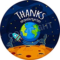 Space Planet Earth Sticker Labels Non Personalised Seals Ideal for Party Bags Sweet Cones Favours Jars Presentations Gift Boxes Bottles Crafts