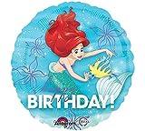 Amscan International–3393501'Ariel Cumpleaños Dream Big' estándar Foil Balloon
