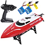 SGILE RC Boat Toys for Pool & Outdoor Use - 2.4GHz 25KM/H High-Speed