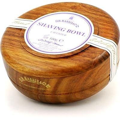 DR Harris & Co Mahogany Wooden Shaving Bowl with Marlborough Shaving Soap