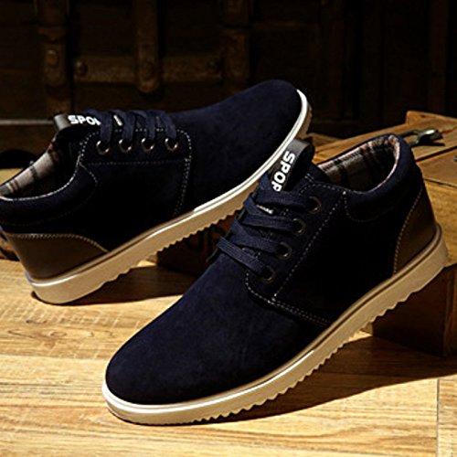 Scarpe da uomo, scarpe da ginnastica, per il tempo libero e traspirante, per tutte le stagioni Blu (blu scuro)
